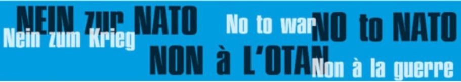 No to War – No to NATO