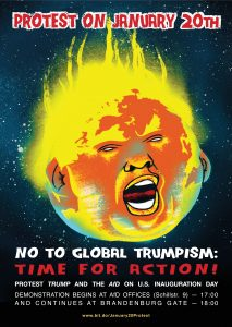 Poster Stop Global Trumpism A3 English