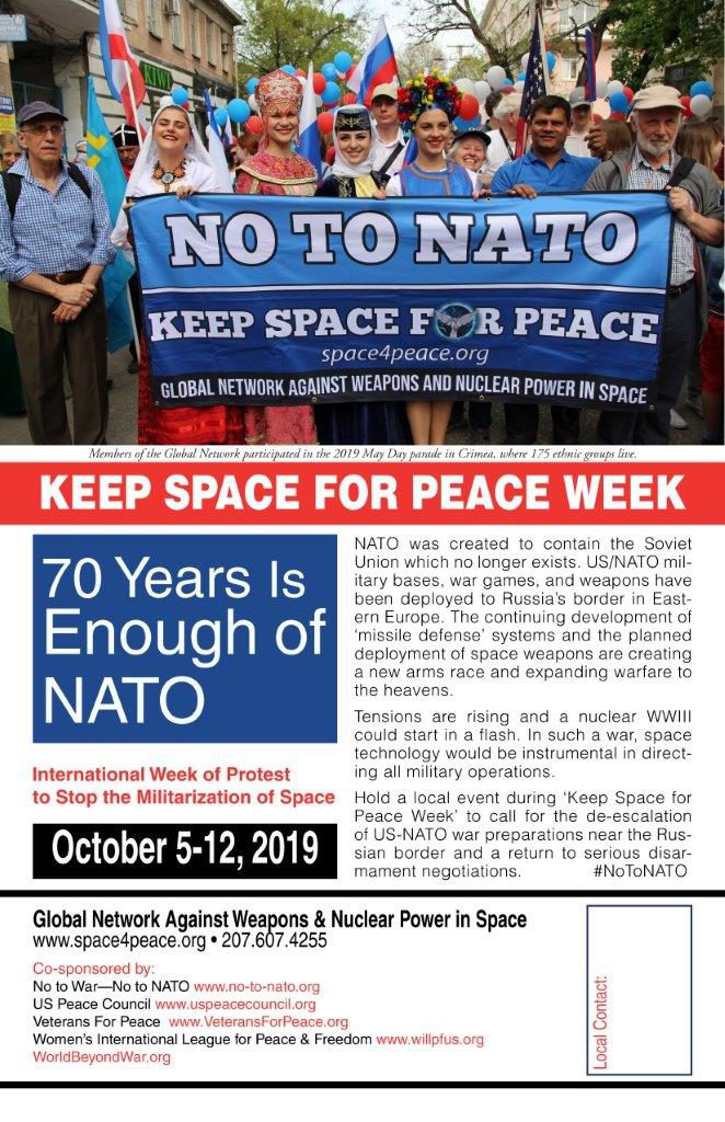 Calender of Peace Activities around the Globe – No to war